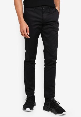 AT TWENTY black Slim Fit Flat Front Pants 35229AA4DA90E7GS_1