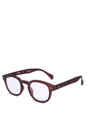 Izipizi 褐色 SCREEN #C Dark Wood +0.00  Screen Glasses 47A38GL351C0E7GS_1