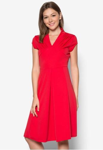 Ramona 褶飾連身裙, 服zalora 衣服尺寸飾, 服飾