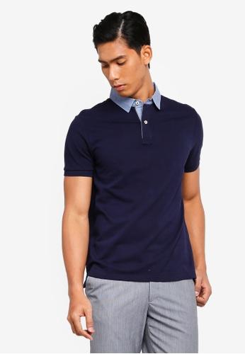 OVS 海軍藍色 質感POLO衫 498A2AA389C069GS_1