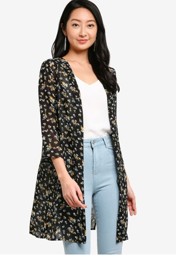 ZALORA BASICS multi Kimono Cardigan With Side Slits 60149AA414CAC3GS_1