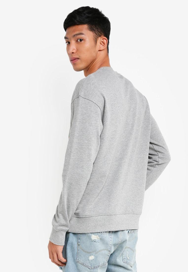 Melange TV Fit Box Sweatshirt Grey Light amp; Jack Jones AAxYqr