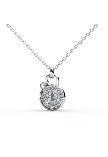 women diamond lock necklace pendant for gold maintt