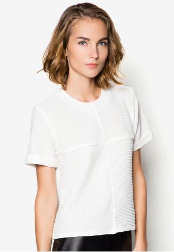 網zalora 內衣眼反折袖上衣, 服飾, T恤
