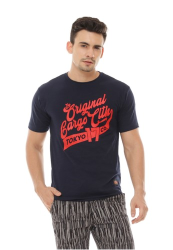 Gargo blue Casual T-shirt 150DFAA66EFDE2GS_1