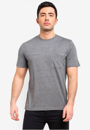 MANGO Man 灰色 口袋刺繡T恤 B5E17AA7A54E7CGS_1