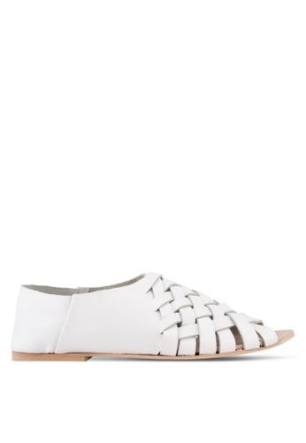 TOPSHOP white Florida Foldown Sandals TO412SH59JGEMY_1