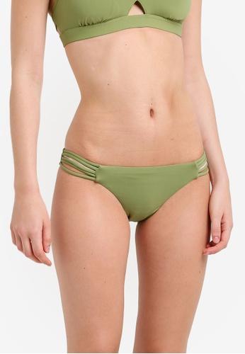 Seafolly green Multi Rouleau Brazillian Bikini Bottom SE198US0RKD1MY_1
