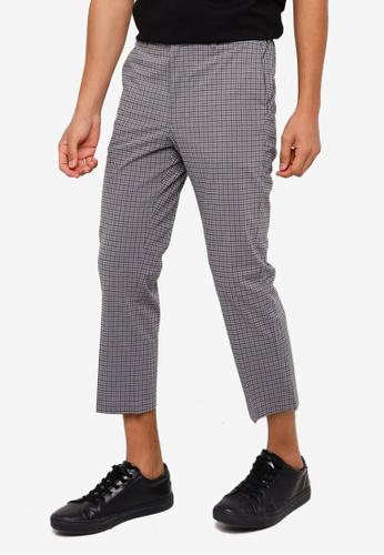 RAGEBLUE grey Check Slim Trousers 9AE27AA68C3A48GS_1