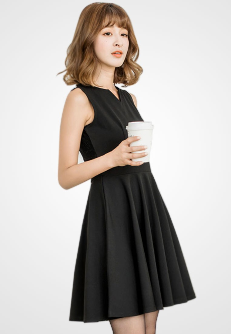 Sultry Allure Fit & Flare Dress