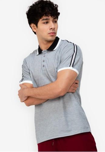 ZALORA ACTIVE multi Grosgrain Tape Detail Polo Shirt 774E9AAC3CE2E0GS_1