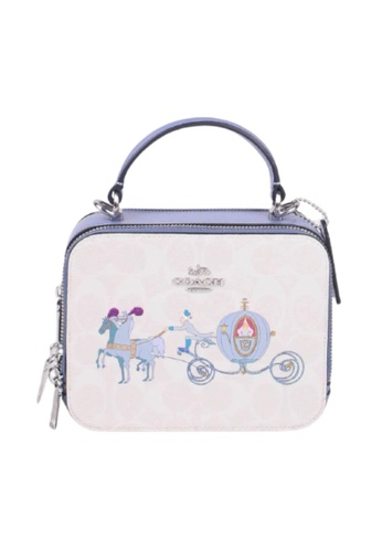 Coach purple Coach X Disney Signature Top Handle C1426 Crossbody Bag In Glacier White Multi 25454AC85824E4GS_1