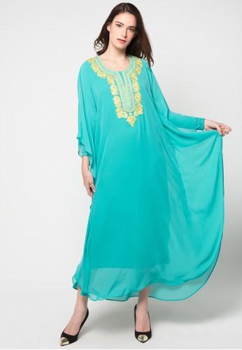 Chanira Festive Collection green Raana Long Kaftan CH354AA46BJDID_1