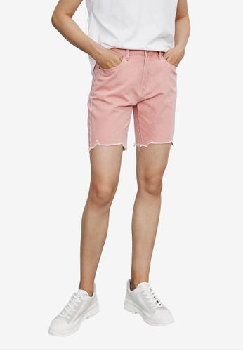 URBAN REVIVO pink Casual Shorts D4359AA4DDA765GS_1