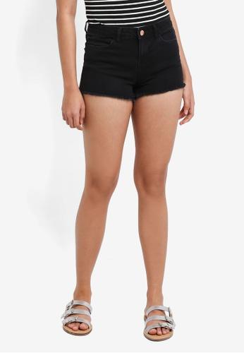 Miss Selfridge black Black Shorts 5D13AAA8A295ECGS_1