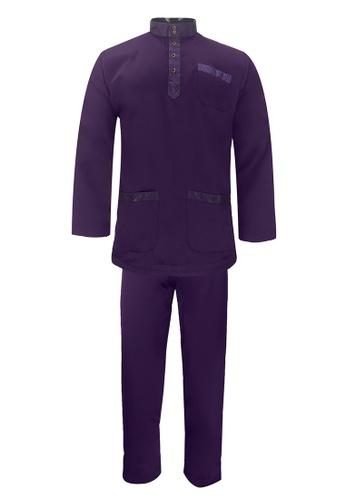 Pacolino purple Baju Melayu Cekak Musang with pants For Kids - BM17001 (Dark Purple) 256CFKA6756D15GS_1