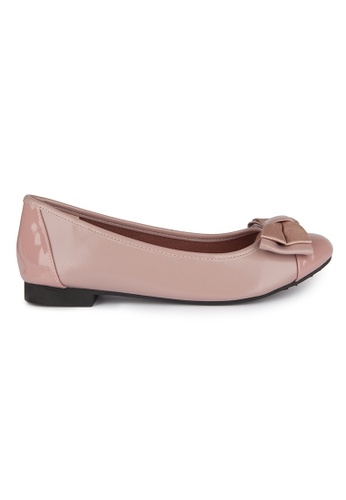 MAUD FRIZON pink Ballerinas With Double Layers Bow AEF71SH7AC1A92GS_1