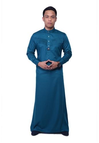Maribeli Butik green MB Man Jubah Qhalees 09 Cyan Green MA905AA17LVAMY_1
