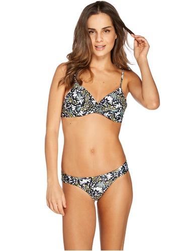 Cia Maritima 黃色 and 多色 and 海軍藍色 Cozumel Bralette Structured Bikini E2505US2FF4491GS_1