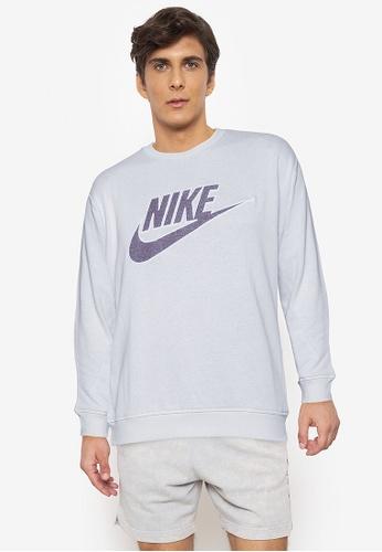 Nike white AS Men's Sportswear Crew Sweatshirt 74066AA2F5D3BDGS_1