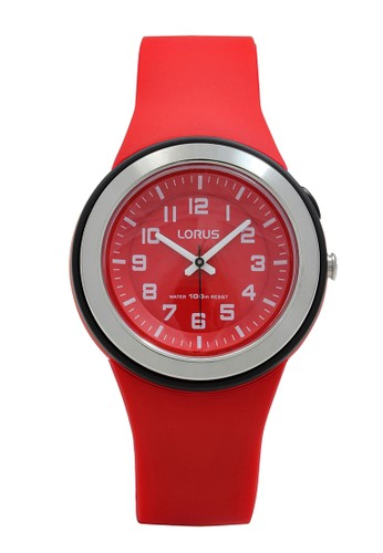 Lorus red LORUS Jam Tangan Wanita - Red Black - Silicon - R2309MX9 E31C6AC81A5862GS_1
