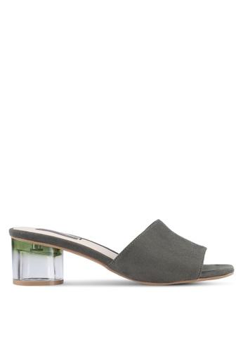 VINCCI green Casual Mule Heels VI831SH0SY9IMY_1