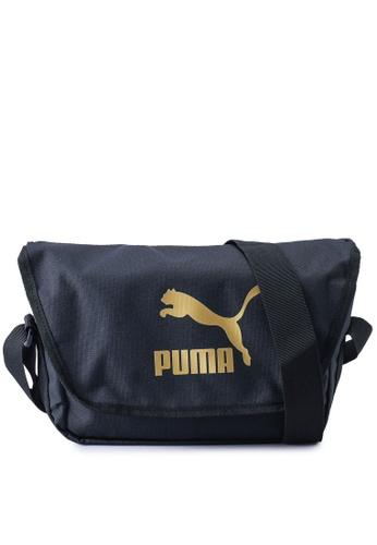 PUMA black Originals Urban Messenger Bag 9A9CDAC5C58B33GS_1
