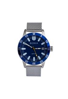 Bonia B10364-1382 - Jam Tangan Pria - Silver Blue AC78DAC4E58D90GS 1 d49d40f8ed