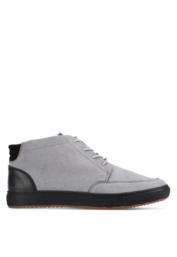 UniqTee grey Camouflage Chukka Sneakers UN097SH01KFQMY_1