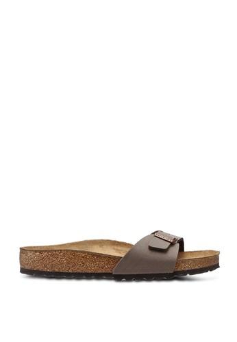 Birkenstock brown Madrid Birko-Flor Nubuck Sandals BI090SH65JQOMY_1