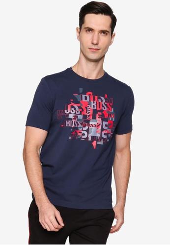 BOSS navy Typography T-Shirt 0C019AA43DEC95GS_1