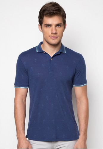 Jacquard Polo Shirt (Navy Blue)