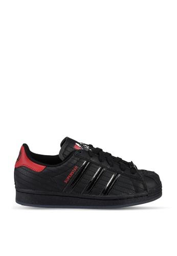 Adidas 黑色 superstar j star wars sneakers C5A9FKS4DA94C0GS_1