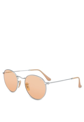 Ray-Ban silver Round Metal RB3447 Sunglasses 3D203GLAB04CA4GS_1