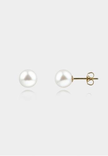 monojewelry 7MM CLASSIC PEARL STUDS (GOLD) AD8D5AC7F898B1GS_1
