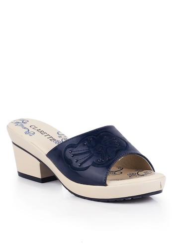 CLARETTE navy Clarette Sandal Heels Georgina Navy CL076SH01KZQID_1