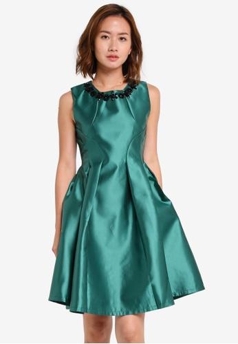 Megane green Red Romance Searlait Beaded Neckline Dress ME617AA0SZX6MY_1