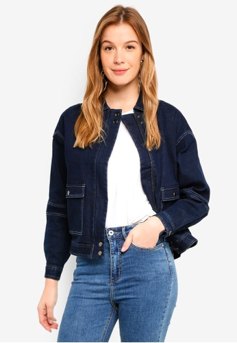 Finders Keepers blue Stand Bomber Jacket 7DB49AA62695EAGS_1