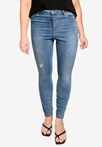 Vero Moda blue Plus Size High Rise Skinny Jeans 3EC36AA73FC769GS_1