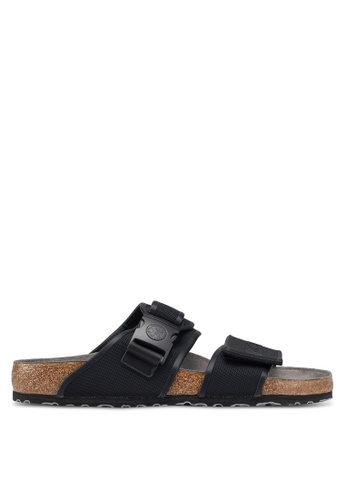 Birkenstock black Rotterdam Sport Tech Sandals 5BD0FSHAE22E7FGS_1