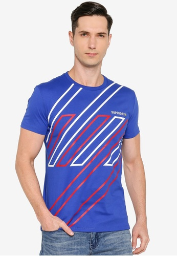 SUPERDRY 藍色 Sportstyle Graphic T-Shirt - Sportstyle Code C171CAA40DDE3DGS_1