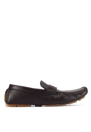 UniqTee brown Classic Penny Moccasins 70C66SHAB44076GS_1