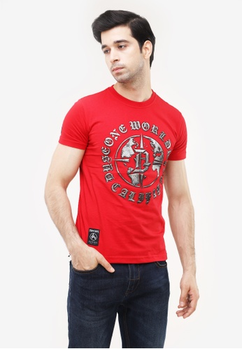 Dyse One red Round Neck Muscle Fit 02AB8AA20978D9GS_1