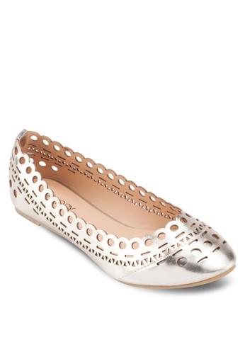 Mirriam zalora 心得鏤空亮面平底鞋, 女鞋, 鞋