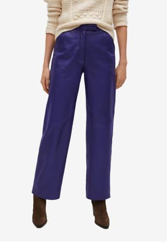 Mango purple Straight-Fit Leather Trousers F64E7AA7DB9681GS_1