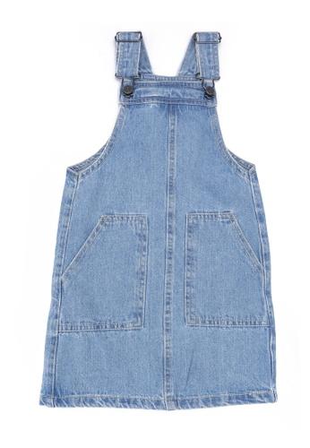 FOX Kids & Baby blue Light Denim Long Pinafore Dress B629CKA381164EGS_1