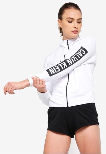 Calvin Klein white Fleece Jacket With Logo - Calvin Klein Performance 6607DAA77171EBGS_1