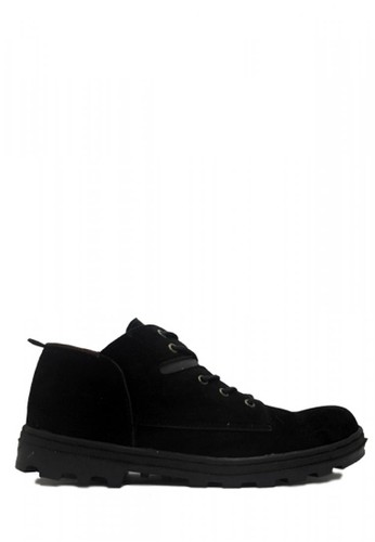 Cut Engineer black Cut Engineer New Classic Safety Low Boots Suede Black CU226SH11GJWID_1