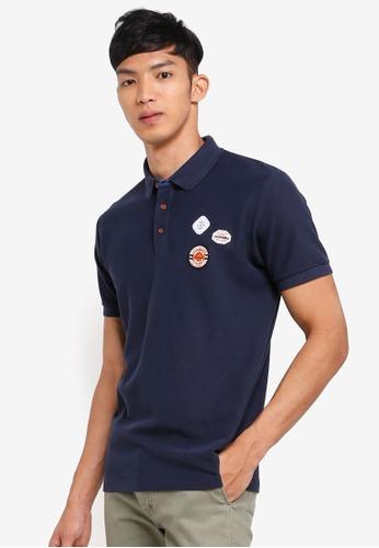 ESPRIT navy Short Sleeve Polo Shirt 08028AAE1CEAB3GS_1