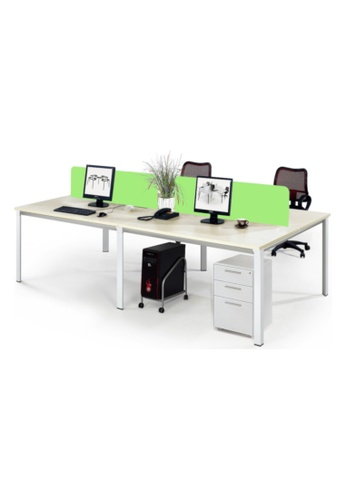AMERCIS white Amercis Progue Open Plan 1500L Office Table for 4 65F3FHL006D6BFGS_1